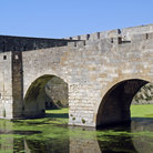 Picture - Ancient bridge at Aigues Mortes.