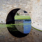 Picture - Arch of a bridge in Aigues Mortes.