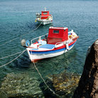 Picture - Fishing boats at Akrotiri.