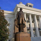 Picture - Statue of Statesmen outside the State Capitol in Montgomery.