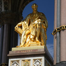 Picture - Golden statue of Albert Memorial in London.