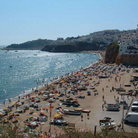 Picture - Sun bathers at the beach in Albufeira.