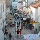 Picture - A crowded street in Albufeira.