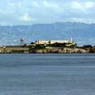 Picture - The former penitentiary of Alcatraz.