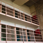 Picture - Upper two levels of Alcatraz cells, San Francisco.
