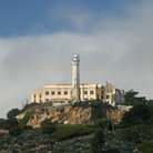 Picture - Lighthouse and buildings on Alcatraz Island, San Francisco.