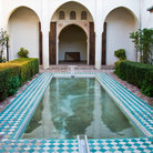 Picture - A pool in a courtyard of the Alcazaba in Malaga.