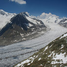 Picture - Looking over the Aletsch Glacier.