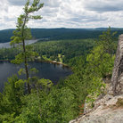Picture - View over a lake in Algonquin Park.