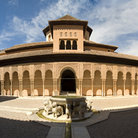 Picture - Panoramic view of Lions Patio, Alhambra, Granada.