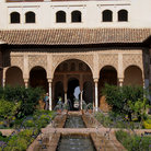 Picture - Garden of Alhambra in Granada.