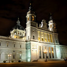 Picture - Night view of the Cathedral of Almudena in Madrid.