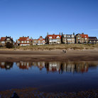 Picture - Alnmouth seen from the water.