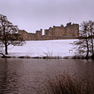 Picture - The Alnwick Castle seen in winter.