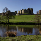 Picture - Alnwick Castle seen from across the pond.