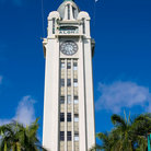 Picture - Front of the Aloha Tower in Honolulu, Hawaii.