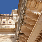 Picture - Detail of the Amber Fort in Jaipur.