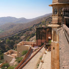 Picture - Top view of the Amber Palace in Jaipur.