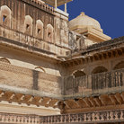 Picture - Detail of the Muslim Palace/ Amber Fort in Jaipur.