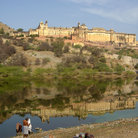 Picture - Amber Fort and reflection in Jaipur.