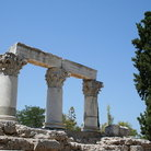 Picture - Columns at ancient Corinth.