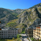 Picture - View of Andorra La Vella from the Pyrenees.