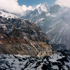 Picture - The snow covered Annapurna Mountains.