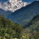 Picture - A view to Machhapuchhre mountain.