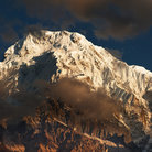 Picture - View of Annapurna at sunrise.