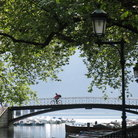 Picture - Bridge on the shores of Lake Annecy.