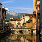 Picture - View of the canal through Annecy.