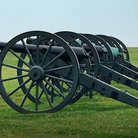 Picture - Civil War cannons in Antietam Battlefield, Sharpsburg.