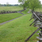 Picture - Fencing and road at Antietam National Battlefield.