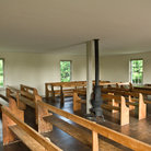 Picture - Interior of Dunker Church at Antietam Battlefield, Sharpsburg.