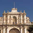 Picture - The facade of the cathedral of Antigua.