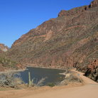 Picture - Apache Trail Road and Roosevelt Lake.