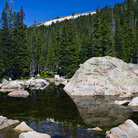 Picture - Long Lake in Indian Peaks Wilderness.