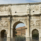 Picture - The Arch of Constantine (312 AD) in Rome is the largest of the remaining Roman arches.