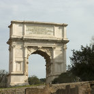 Picture - Arch of Titus (81-90 AD) who ruled (79-81 AD) after he captured Jerusalem in 70, Forum in Rome.