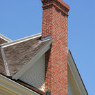 Picture - Brick chimney on 19th century farmhouse, Ardenwood Historic Farm, Fremont.
