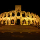Picture - Night view of the Roman Arena in Arles.