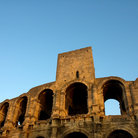 Picture - Arches of Roman Amphitheater in Arles dates from end of 1st century.