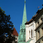 Picture - St Peter's Cathedral spire in Geneva.