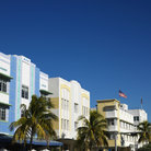 Picture - Buildings in the art deco district of Miami Beach.