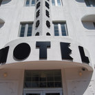 Picture - Close up of a hotel in the Art Deco district of Miami Beach.