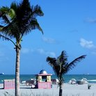 Picture - Beach in the Art Deco district of Miami Beach.