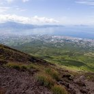 Picture - View of Naples from Mount Vesuvius.