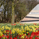 Picture - Flowers in front of the Ashington sign in Ashington.