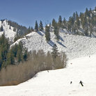 Picture - Snow covered run on at Aspen Ski Resort.