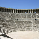 Picture - Greek Theater in Aspendos, built in the second century A.D. It has seating for an audience of between 15,000 and 20,000.